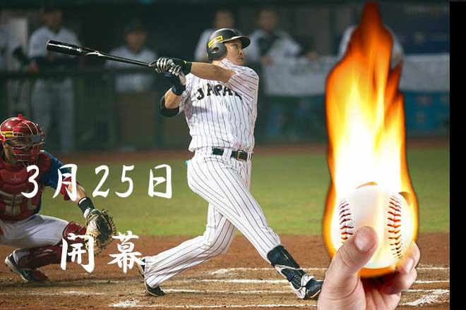 プロ野球が始まった...(n4)<br>Baseball season officially begin
