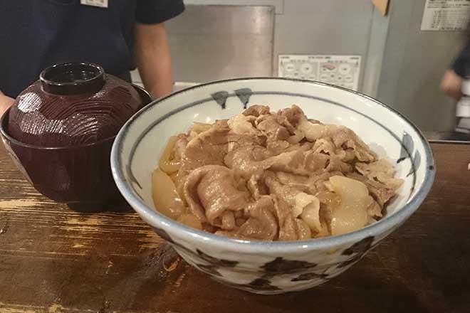 おいしい牛丼を食べました...(n5)